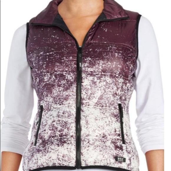Andrew Marc Jackets & Blazers - Andrew Marc NY  Purple Ombré Splatter Vest